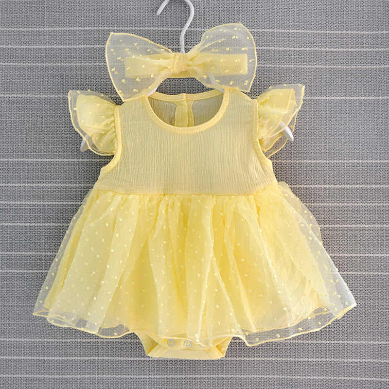 חדש נולד תינוקת שמלות טבילה בייבי שמלת 2019 הטבלה נסיכה לבן צהוב יילוד שמלת תינוקת שמלות 3 6 חודשים