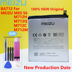 Meizu M6s S6 M712C M71M M71Q M712H PHone 100% Original BA712 3000mAh New Battery