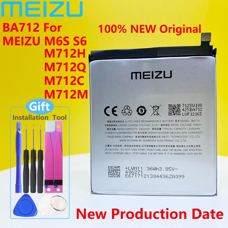 Meizu M6s S6 M712C M71M M71Q M712H Téléphone 100% Dorigine BA712 3000mAh Batterie Neuve