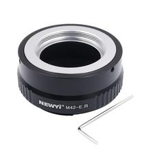 Newyi Adapter obiektywu pierścień dla M42 Eos R Adapter do M42 do montażu na obiektyw do canona Eos R Rf do montażu kamery