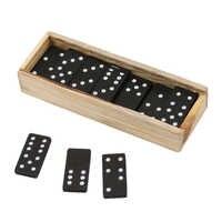 28 teile/satz Holz Domino Blöcke Bord Spiel Reise Lustige Tisch Spiel Domino Spielzeug Für Kind Kinder Pädagogisches Spielzeug Domino Blöcke