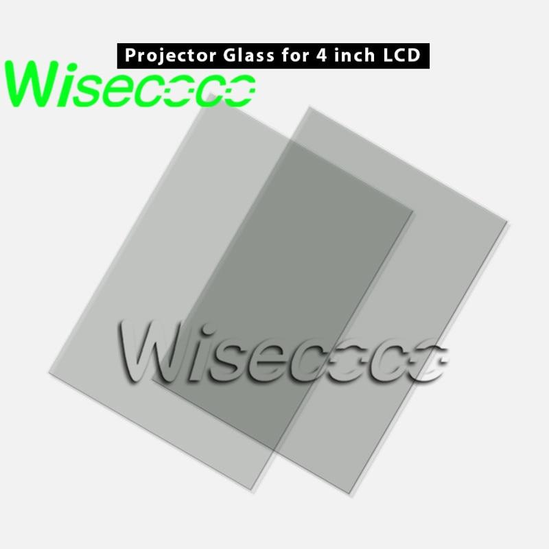 Wisecoco 4-дюймовый ЖК-Мини светодиодный проектор Ремонт для Unic UC40 UC46 Rigal теплоизолирующее стекло поляризатор стекло 96*60*1,2 мм