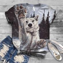 2020 nova venda quente de manga curta verão 3dt camisa cabeça de lobo imprimir curto-mangas compridas casal camiseta animal topo streetwear