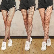 Medias caladas sexys para mujer, medias negras de red, envío directo