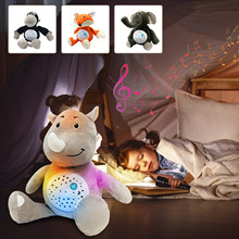 Plush-Toy Music Baby Sleep with Dolls Appease Bear-Toys for Early-Educational Night-Lamp