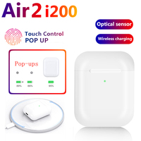 Original i200 TWS 1:1 Air2 Headset Pop up Separate use Wireless Earphone Wireless Charging PK w1 H1 chip i12 i10 i500 i9000 tws