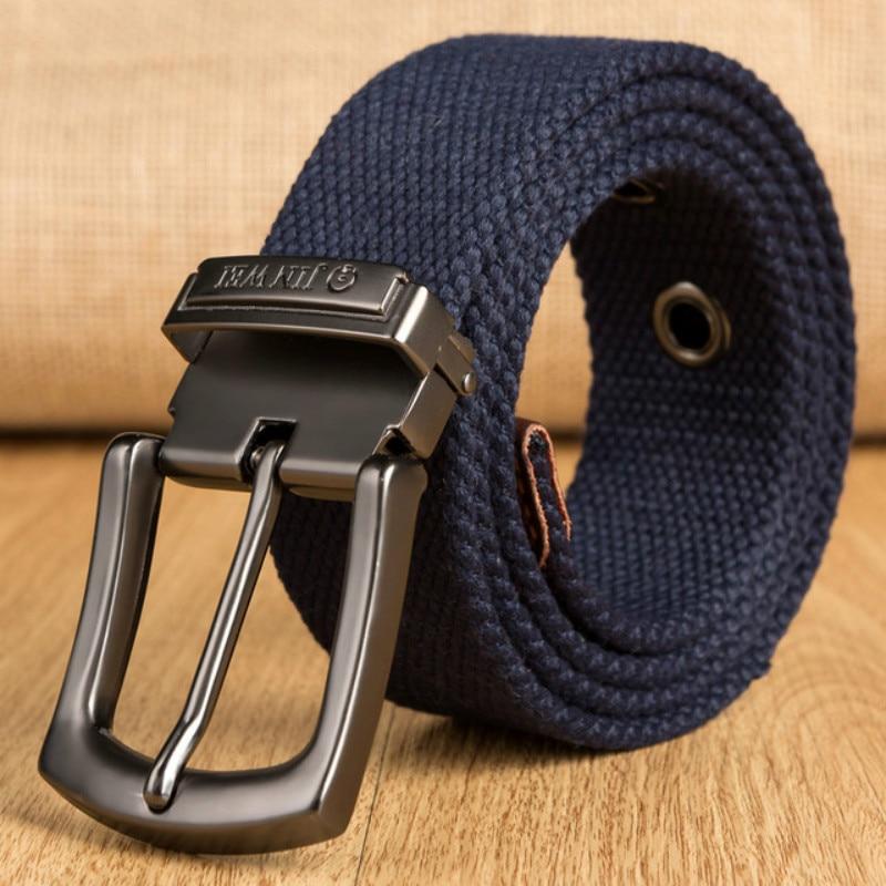 Canvas Belt Men Army Tactical Belts Selling Man Outdoor Sport Simple Practical Weave Nylon Canvas Cowboy Pants Belt