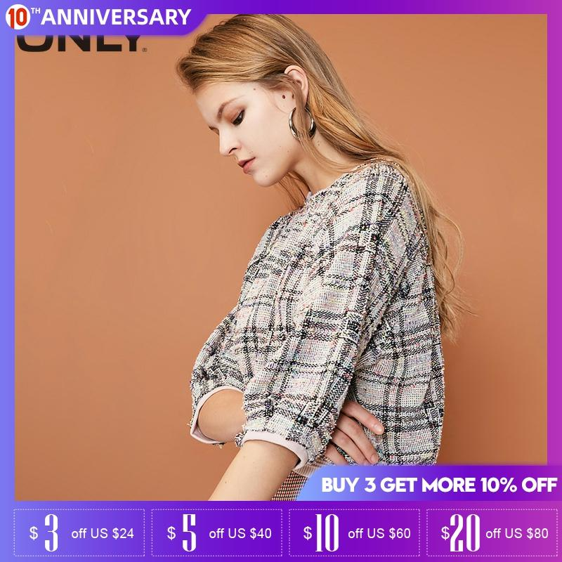 ONLY Autumn Women Loose Fit 3/4 Sleeves Thin Sweatshirt Hoodies| 11919S513