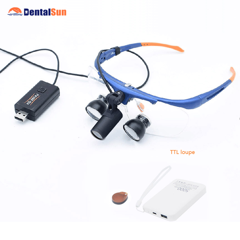 Dental Magnifying Glass FD-504G-3 Frame Type Fixed Medical  TTL Loupe With Light