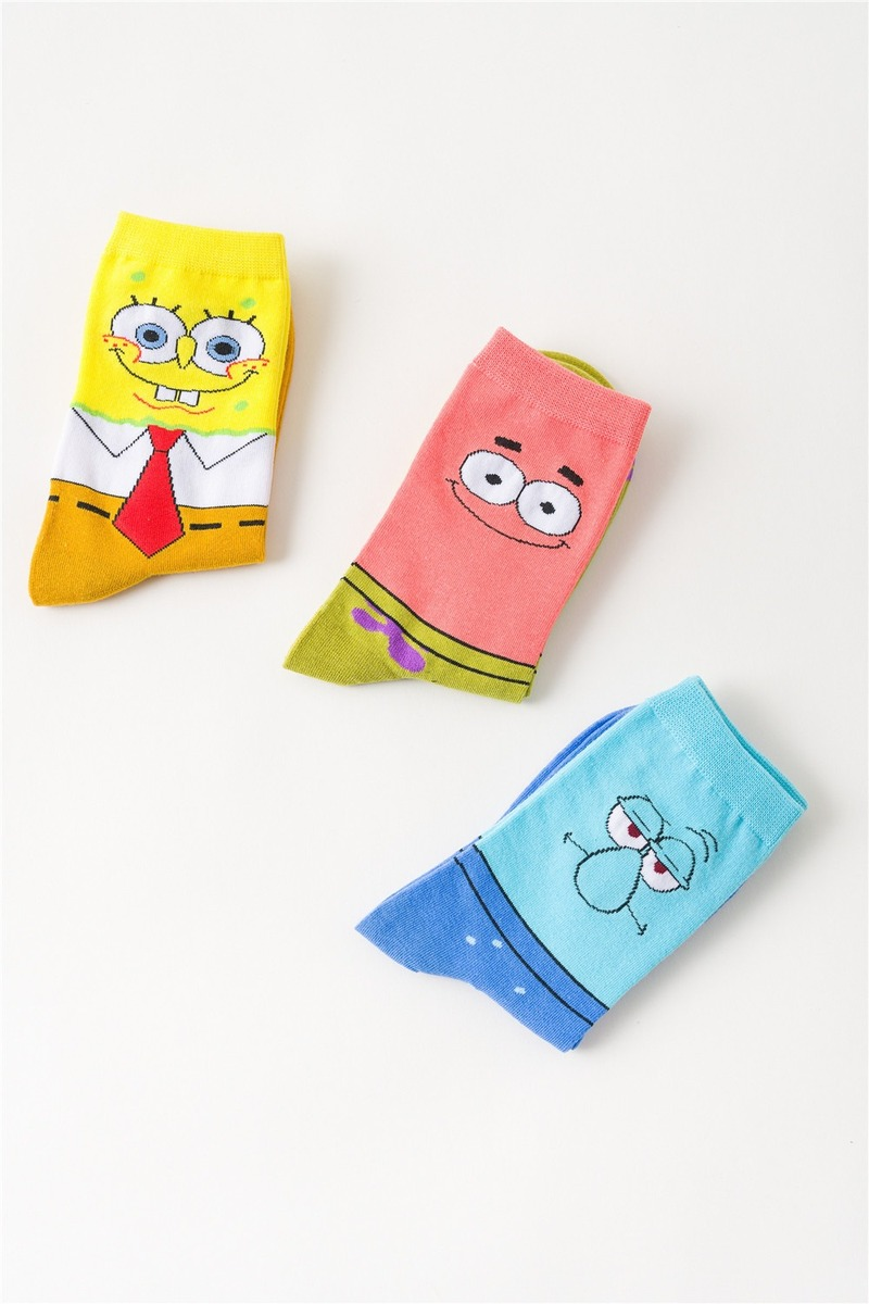 Men Patrick Star Sock Happy Cartoon Crew Socks Cotton Mens Compression Warm Home Harajuku Fashion Squidward Tentacles Skarpetki