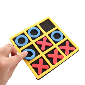 Parent-Child Interaction Leisure Board Game OX Chess Funny Developing Intelligent Educational Toys Puzzles Game Kids Gift shark bite game funny toys desktop fishing toys kids family interactive toys board game