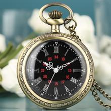 Open Face Fob Watch Quartz Analog Roman Numerals Pocket Watches Chain Durable Alloy Pocket Clock Mens Women Gift montre de poche цены онлайн