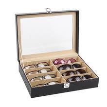 8-сетки очки Чехол для солнцезащитных очков Дисплей ящик для хранения мелких предметов, косметики, органайзер для глаз очки Чехол Органайзер для очков Дисплей коробка