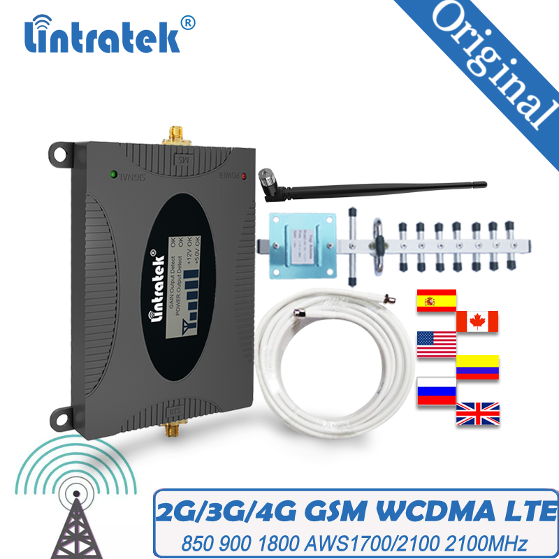Cdma Aws 4G Signaal Versterker 2100 Gsm Lte Cellulaire 1800 2G 3G Umts Wcdma 850 900 1700/2100Mhz Booster Dcs Mobiele Telefoon Repeater