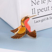 1 Pc Brooches Cartoon Animal Badge Enamel Pin Birds Brooch For Women Lady Classic Fashion Accessories Sweater Decoration Pins