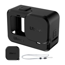 Ulanzi Silicone Protective Cover+Lens Cover Case for  Hero 9 Black Sleeve Housing Case Frame with Lanyard Cameras Accessories