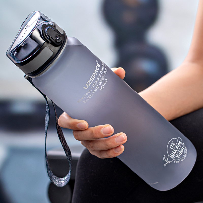 High Quality Water Bottle 500ML 1000ML BPA Free Leak Proof Portable For Drink Bottles Sports Gym Eco Friendly