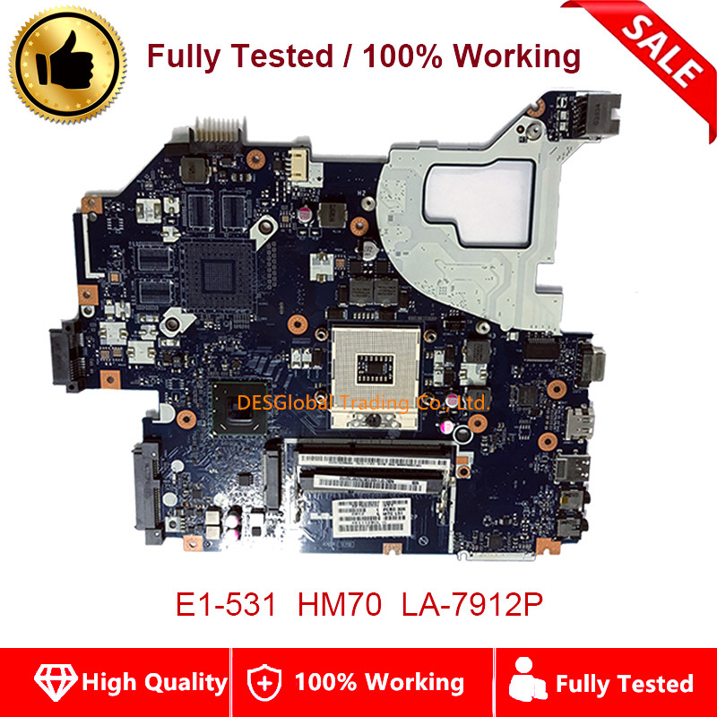 For Acer E1-531 NV56R HM70 Mainboard V3-571G Q5WV1 LA-7912P Laptop Motherboard Fully Tested Fast Shipping