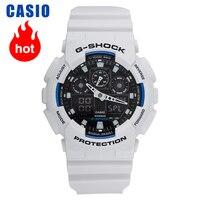 Casio relógio masculino grande à prova d'água  relógio de ponteiro  G-SHOCK  esportivo  GA-100B-7A