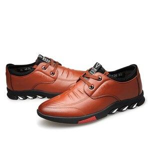 Image 3 - Misalwa 5 CM מעלית גברים של עור נעליים יומיומיות Mens מקרית סניקרס מעלית גובה הגדלת נעלי גברים בריטי אופנה