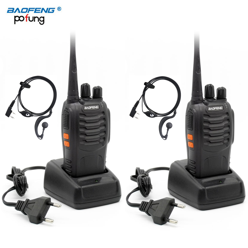 2 PCS Baofeng Pofung BF-888s UHF Two-way Ham Radio Transceiver with Earpieces