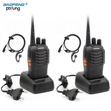 2 PCS Baofeng BF-888S BF 888S BF888S Walkie Talkie Two Way Ham CB UHF Radio Station Transceiver Boafeng Amador Woki Toki Amateur(China)
