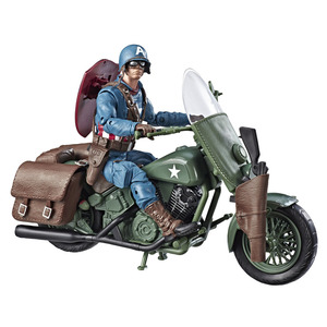 "Image 2 - ML Legends World War II Captain Americanกับจักรยาน6 ""Loose Action Figure"