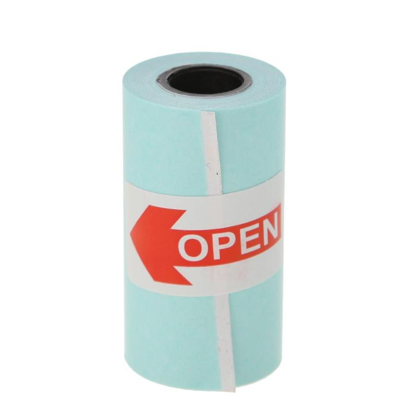 New 3 Rolls Printing Sticker Paper 57*30mm Thermal Adhesive Photo Paper For Mini Pocket Photo Printer Paperang Receipt Papers
