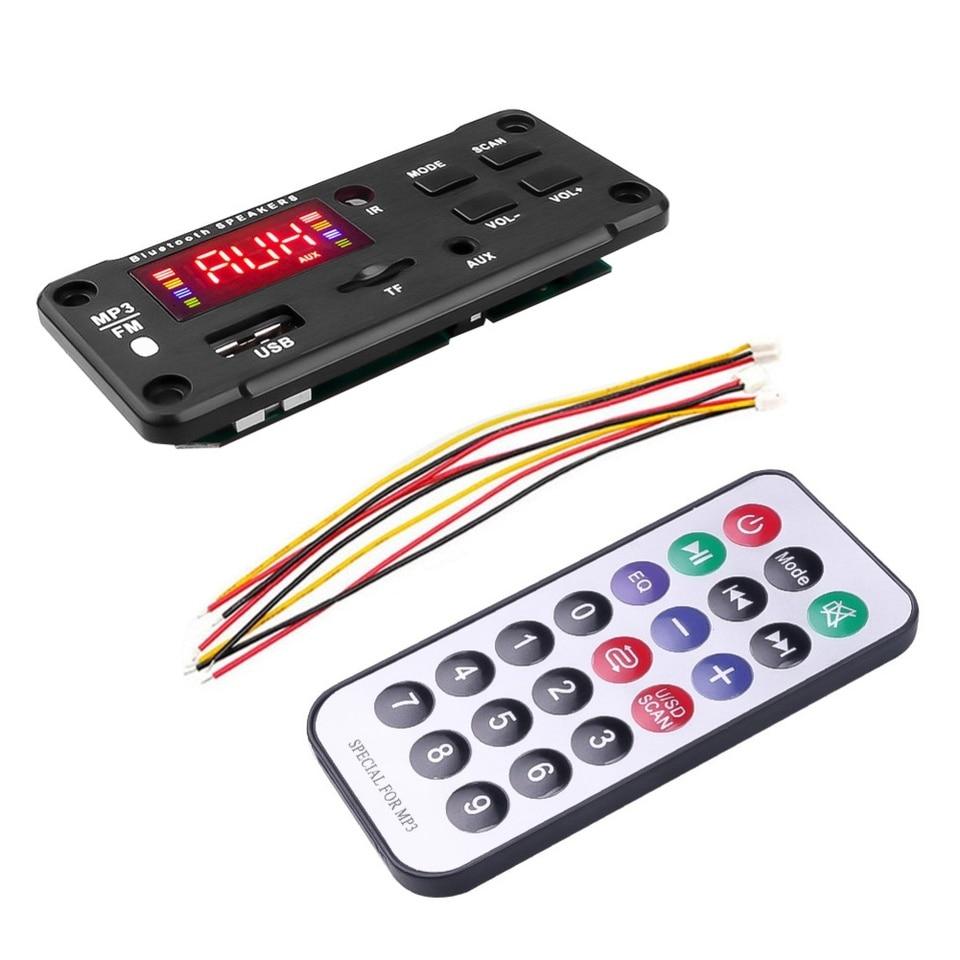 Bluetooth 5.0 MP3 Decoder Board Audio Module USB AUX TF FM Radio for Car OPULENT