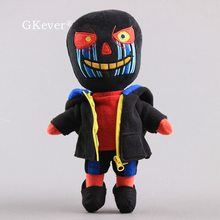 Poupée en Peluche Sans erreur de 28 cm, personnage de dessin animé, Zombie noir, portant une veste, jouet en Peluche, cadeau d'anniversaire pour bébés et enfants