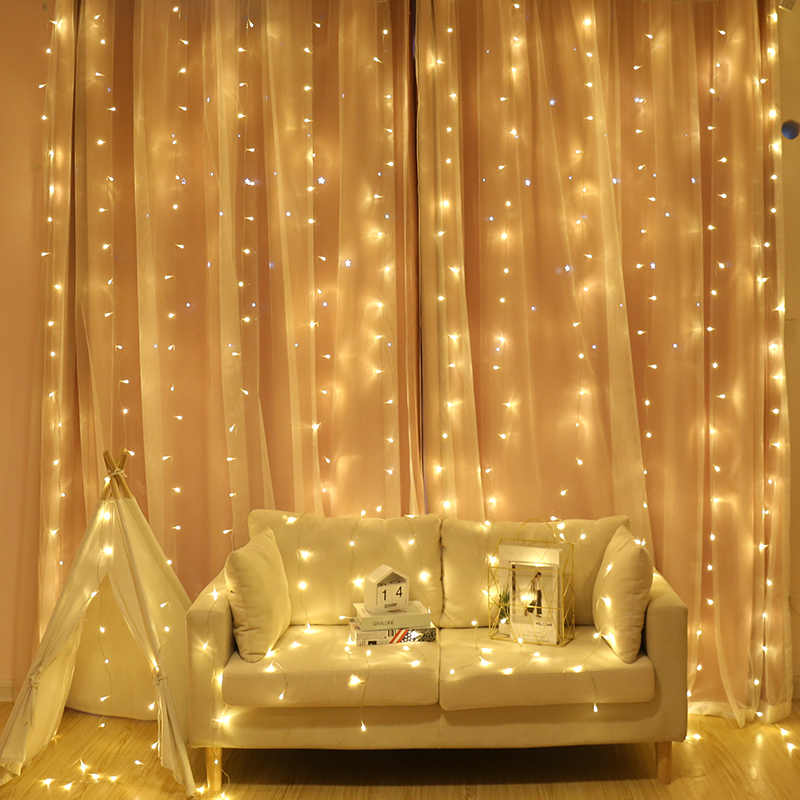 Fairy Led String Light Icicle Garland Light For Christmas Wedding Party Curtain Window Decoration 2/3X2/6X3M LED Twinkle Lights