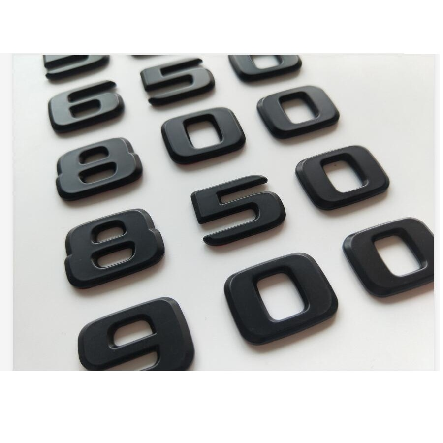 Купить матовые черные цифры эмблемы b20 b25 b35 450 500 550 580 600