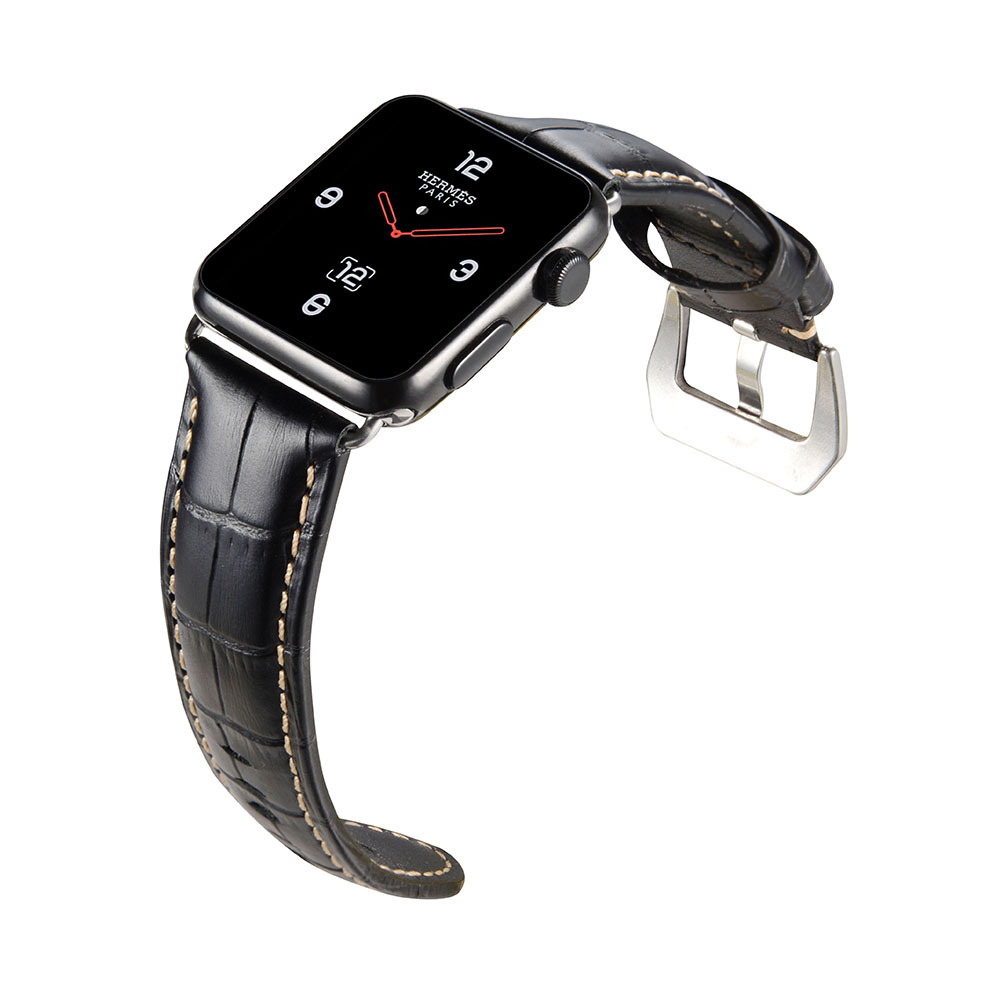Applicable APPLE Watch/IWatch Apple Watch Accessories Leather Watch Strap Cowhide Pin Buckle Watch Bracelet Currently Available