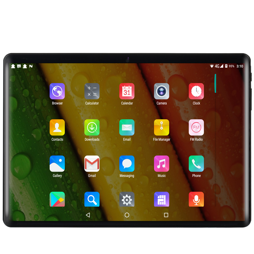 2019 New 10.1 Inch Tablet PC Android 7.0 Octa Core 3G Phone Call Sim Card 4GB+64GB Wi-Fi Bluetooth GPS Tablets PC Bluetooth