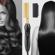 Leeons Comb Hot Comb Straightener Electric Flat Iron Hair Comb Straightener Fast Hot Hair Straightener Brush Hot Iron Comb Brush cheap 60W-100W Knob 120 °C Dry wet CN(Origin) 230°C 360° Rotatable Hot Heating Comb Others 3-5 min Tourmaline ceramic More than 50 000 times