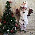 Косплей Костюм Олафа для девочек на Хэллоуин для малышей любимый мультяшный костюм снеговика для представлений