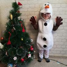 Menina olaf halloween cosplay traje para criança criança favorito dos desenhos animados filme boneco de neve fantasia desempenho traje