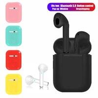 i9s tws Wireless Headphones Bluetooth Earphones earbuds Stereo Sound Headset For Iphone Xiaomi redmi Samsung Mobile phone|Fones de ouvido|   -