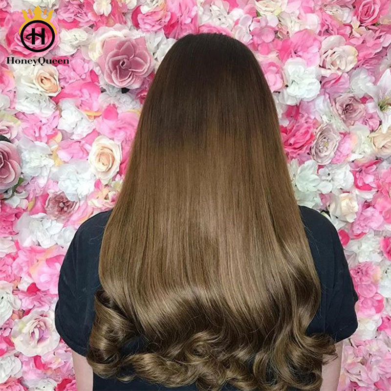 Silk Top Jewish Wigs Double Drawn Kosher Wigs Straight European Human Hair Wigs For Women 130 Density Honey Queen Remy Full Ends