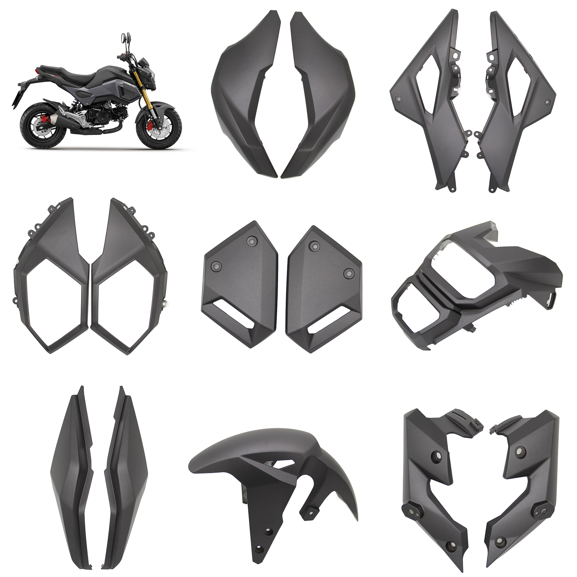 For Honda Msx125 Msx125SF Grom 2016 - 2020 Fairing Kits Front Fender Mudguard Side Panel Cover Cowl Protective Guard