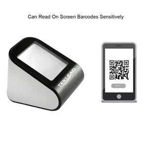 TEKLEAD автоматический сканер штрих-кодов 2D, USB считыватель штрих-кодов громкой связи qr-кодов для мобильных телефонов, магазинов, супермаркетов...