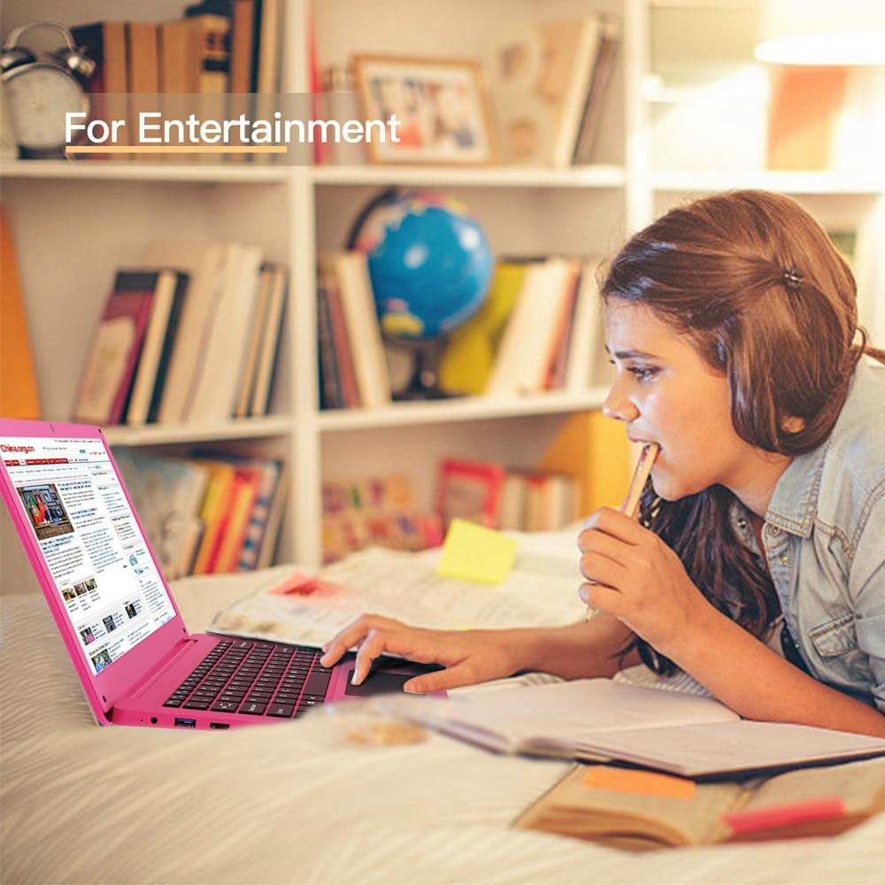 12.5 Inch Pink Laptop Notebook PC 4GB RAM + 64GB SSD Intel Celeron N3350 Ultrabook Dual-Core 2.40 GHz Small Laptops Mini Netbook 5