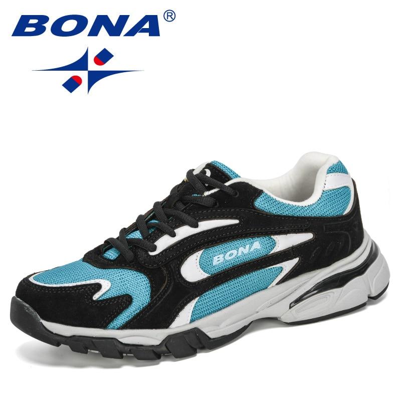 BONA 2020 New Style Classic Men Sneakers Fashion Mesh Men's Casual Shoes Outdoor Running Jogging Shoes Man Zapatillas Hombre