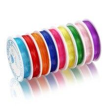 Эластичная проволока для бисероплетения разноцветная нить изготовления