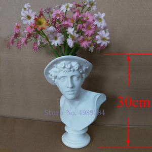 Image 3 - Creative Resin Imitation plaster vase David Sculpture head vase Flower arrangement accessories Apollo Venus Home Decorations