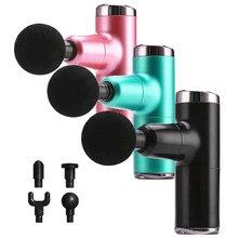 Mini pistola de masaje eléctrica portátil para hombre y mujer, masajeador de mano con carga USB, vibrador corporal para cuello y espalda, pistola de masaje de percusión