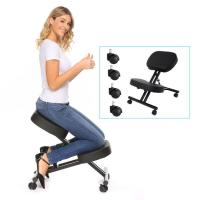 Ergonomic Kneeling Chair Adjustable Stool with Back and Handle Wood Office Furniture Kneeling Posture Work Chair Knee Stool
