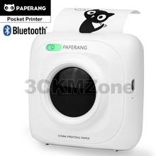 Pocket inkless impressora paperang p1 mini bluetooth 4.0 imagem térmica foto telefone bolso impressora para android ios telefone gzm5807