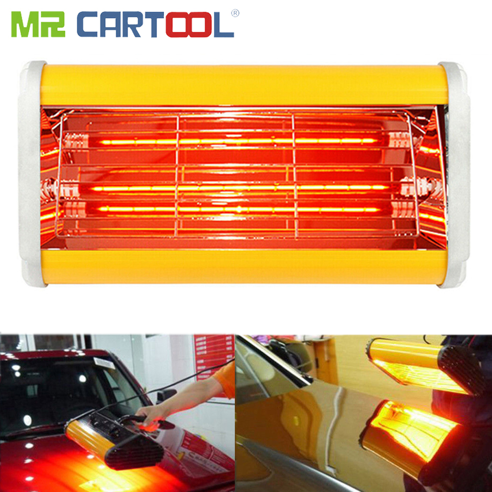 Mr Cartool Car Body Infrared Paint Lamp Handheld Paint Curing Lamp Paints Repair For Auto Bake Handhold Heating 220V