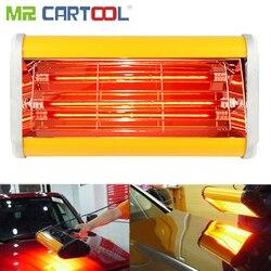 Mr Cartool, lámpara de pintura infrarroja para carrocería de coche, lámpara de pintura de mano, reparación de pinturas para hornear autos, calefacción de mano de 220V